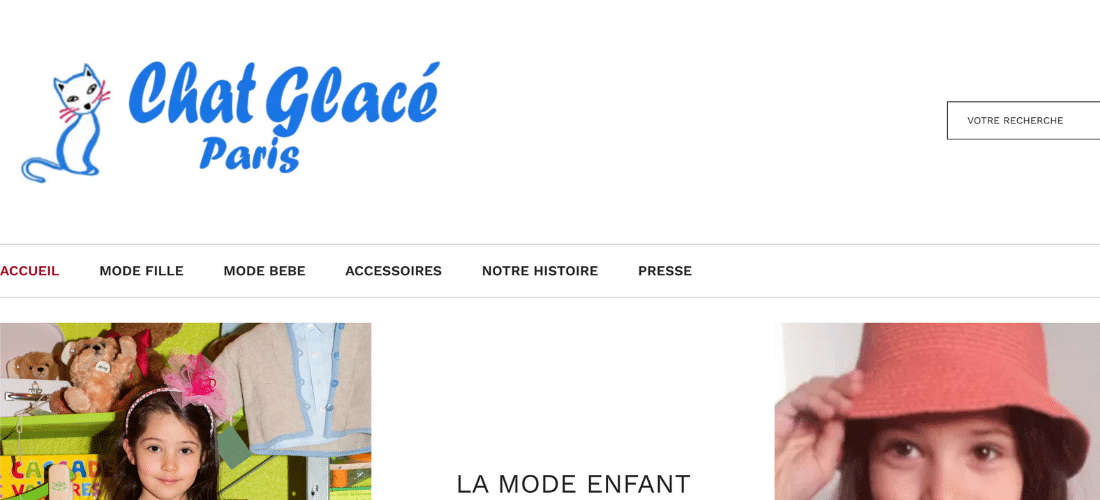 Chat Glacé : vêtements pour enfants