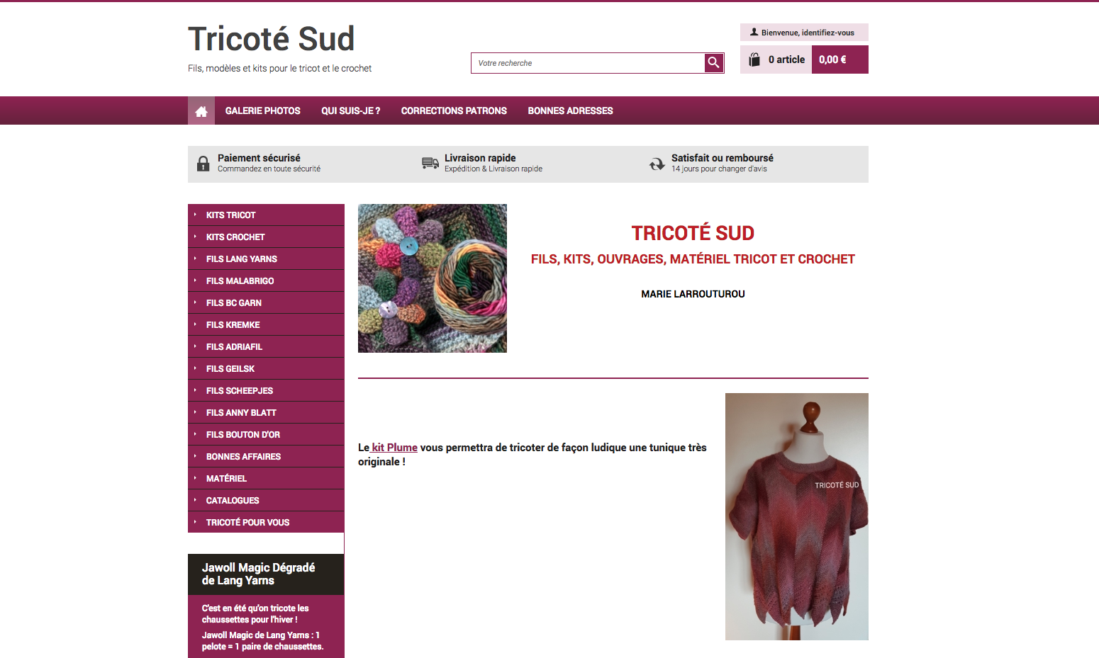 Tricoté Sud : kits et fils de tricot