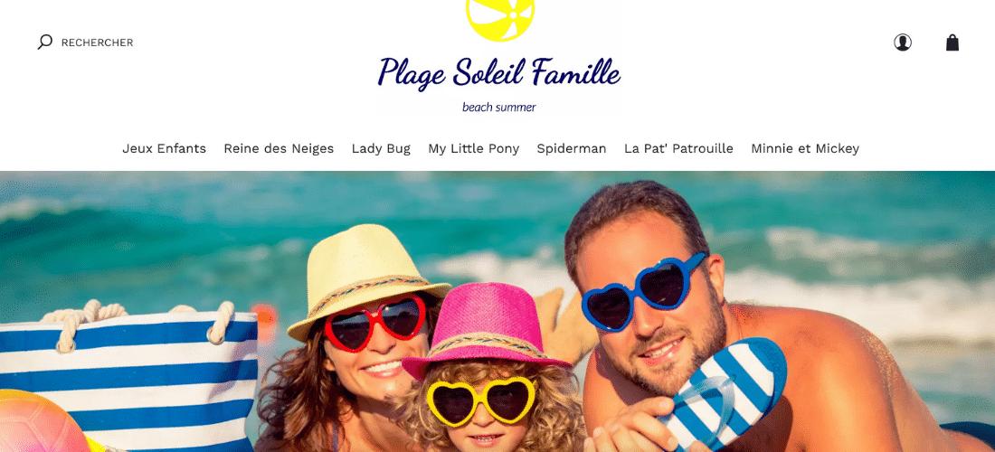 Plage Soleil Famille : accessoires de plage pour toute la famille