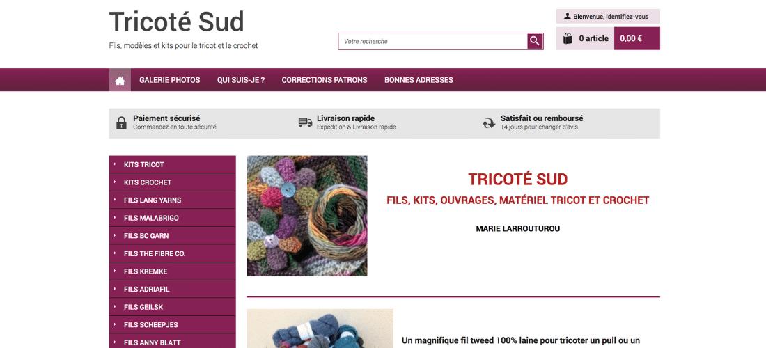 Tricoté Sud : fils, kits et matériel de tricot
